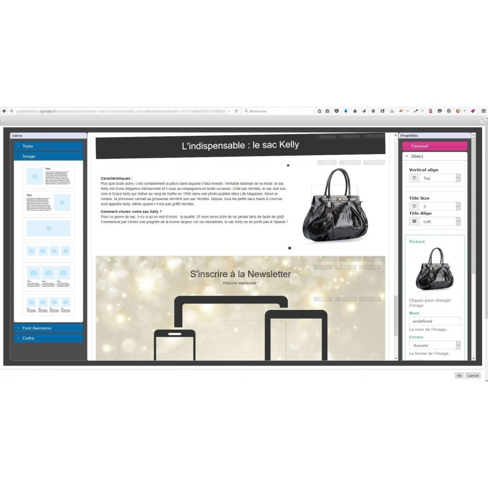module - Personnalisation de Page - Editeur de page web responsive - 5