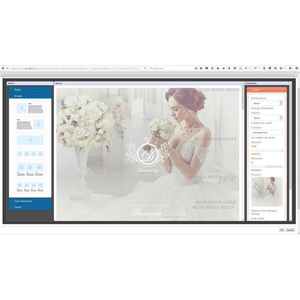 module - Personnalisation de Page - Editeur de page web responsive - 7