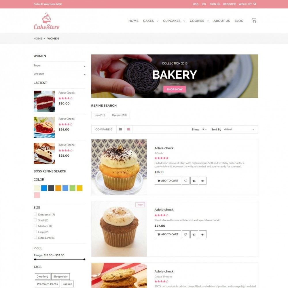 theme - Продовольствие и рестораны - Bakery, Food & Drinks - CakeStore Responsive - 4