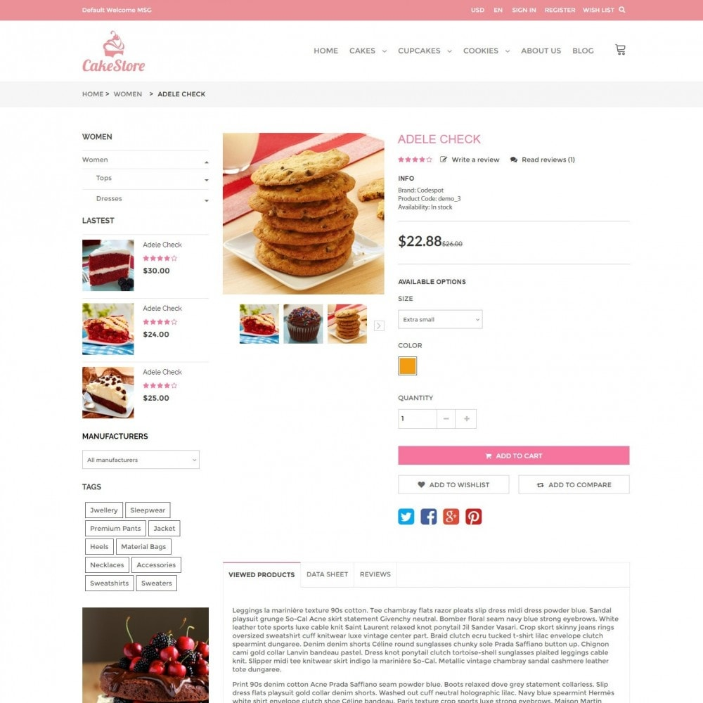 theme - Продовольствие и рестораны - Bakery, Food & Drinks - CakeStore Responsive - 5
