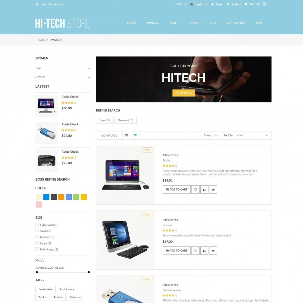 theme - Электроника и компьютеры - Computers & Electronics Hi-Tech Store Responsive - 4