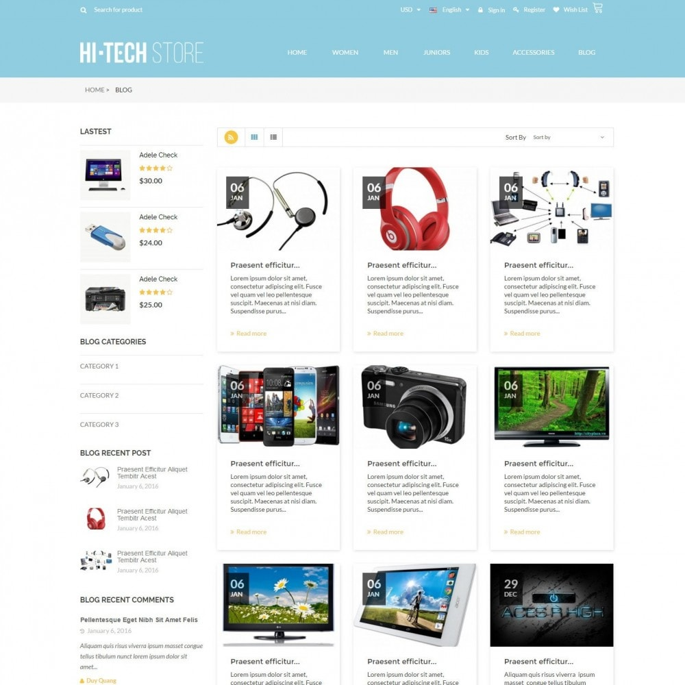 theme - Электроника и компьютеры - Computers & Electronics Hi-Tech Store Responsive - 6