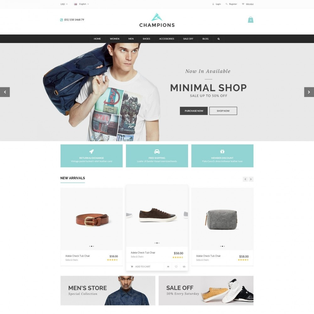 theme - Mode & Schoenen - Parallax Fashion Minimal - Champion Responsive Store - 2