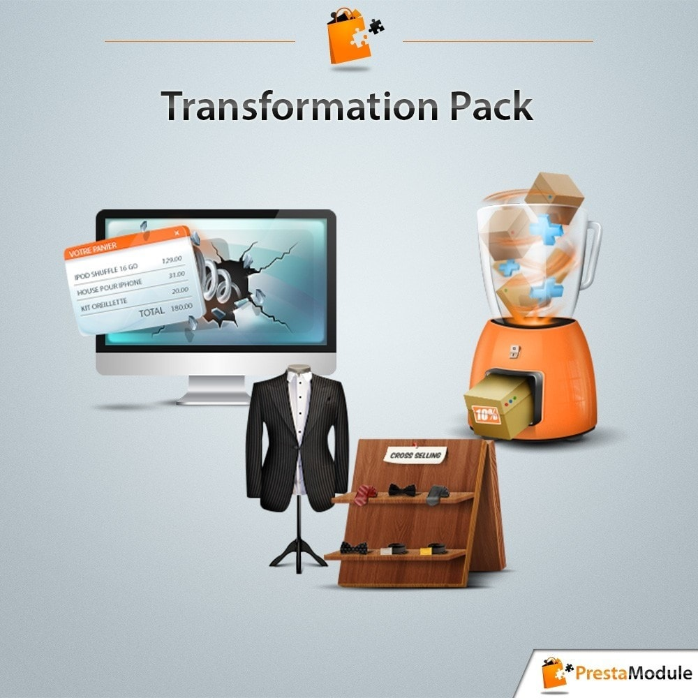 pack - Cross-selling & Product Bundle - Pack Transformation: 3 modules to increase your sales - 1
