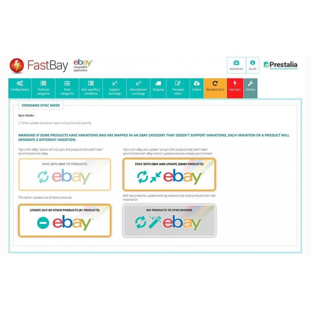 module - Marktplaats (marketplaces) - FastBay - eBay Marketplace synchronization - 11