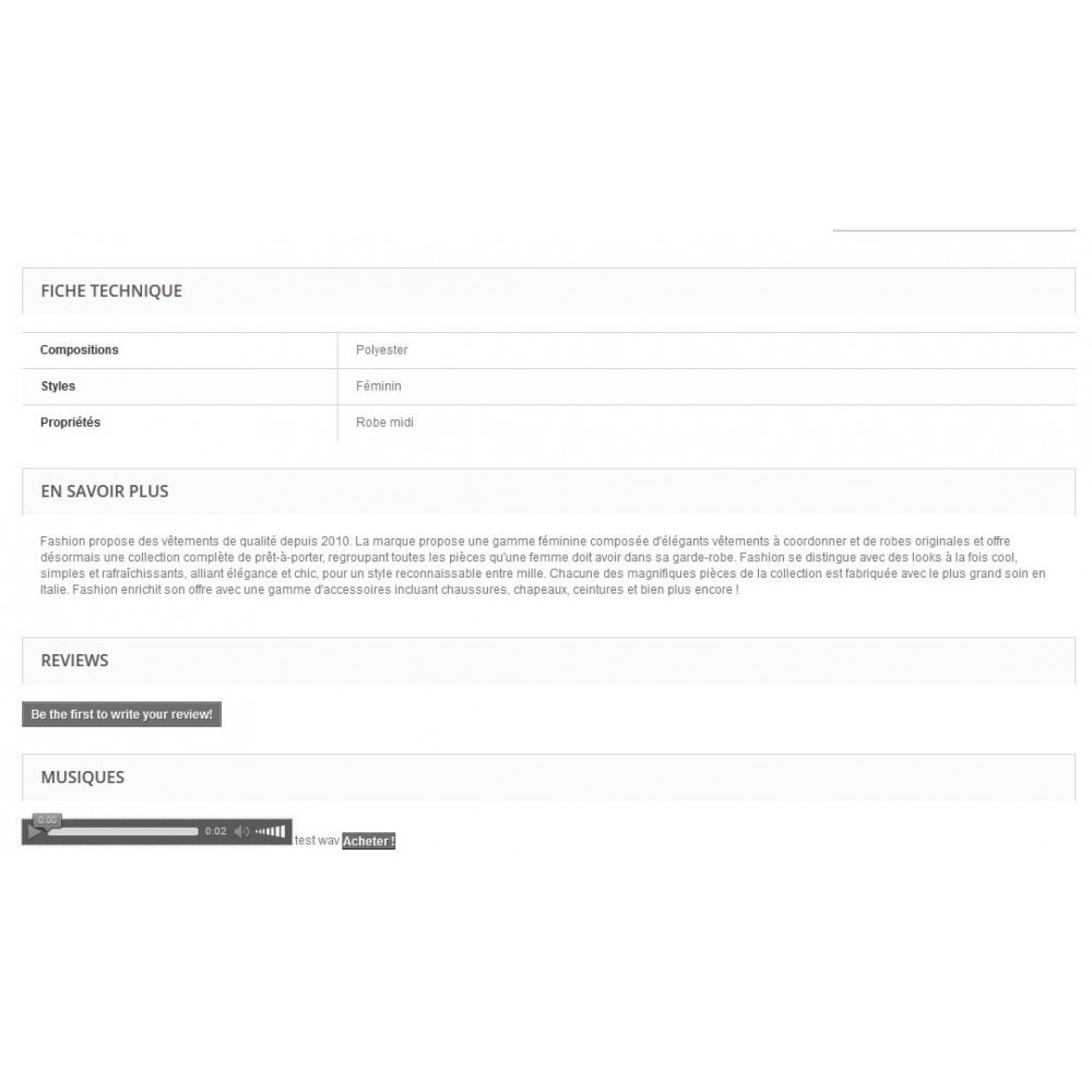 module - Produits virtuels (téléchargeables) - Télécharger des musiques MP3 avec lecteur - 4