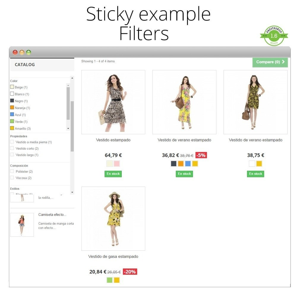 module - Page Customization - Add Sticky elements Cart, Menu, Product, Filters - 6