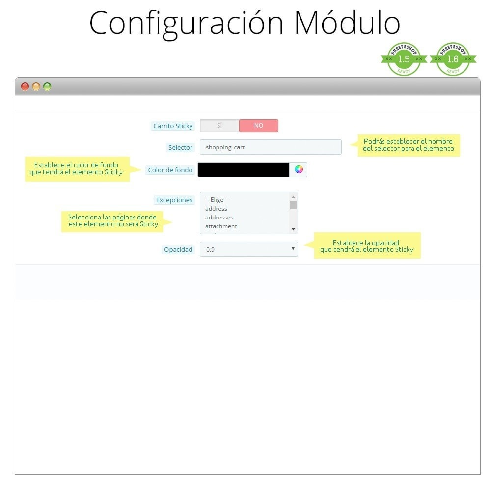 module - Personalización de la página - Haz flotante (sticky) la Cabecera, Carrito, Menú - 4