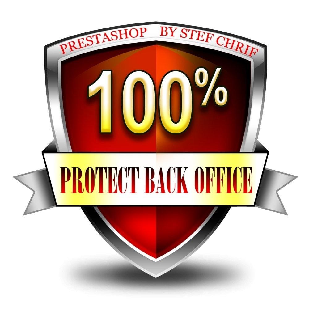 module - Sécurité & Accès - Protégez votre administration (BackOffice) - 1