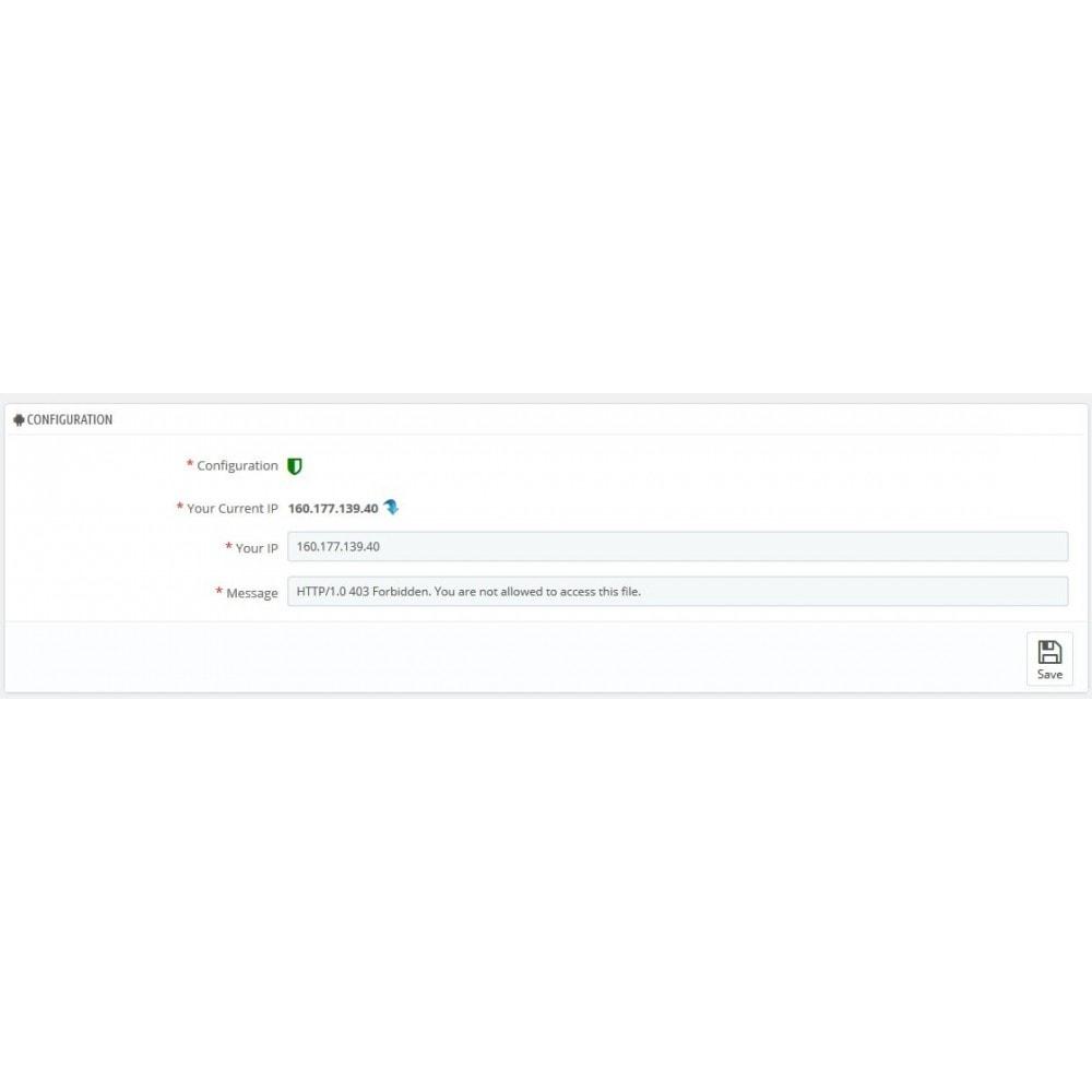 module - Sécurité & Accès - Protégez votre administration (BackOffice) - 2
