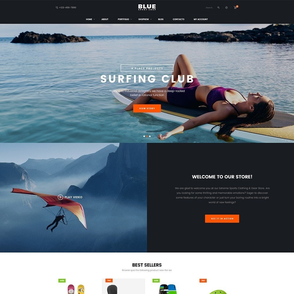 theme - Sports, Activities & Travel - BlueSport - 2