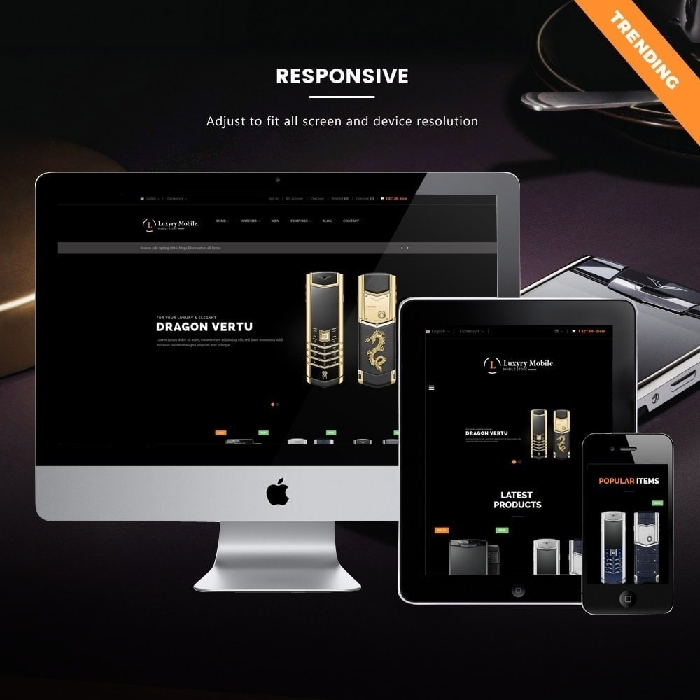 theme - Electronique & High Tech - Ap Luxury Mobile Responsive - 1