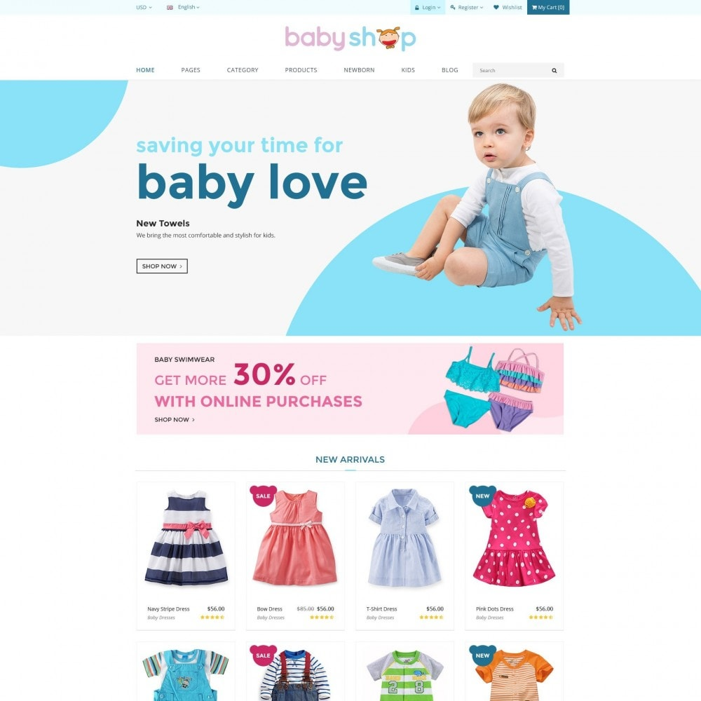 BabyShop - Babies, Children & Kids Responsive Store