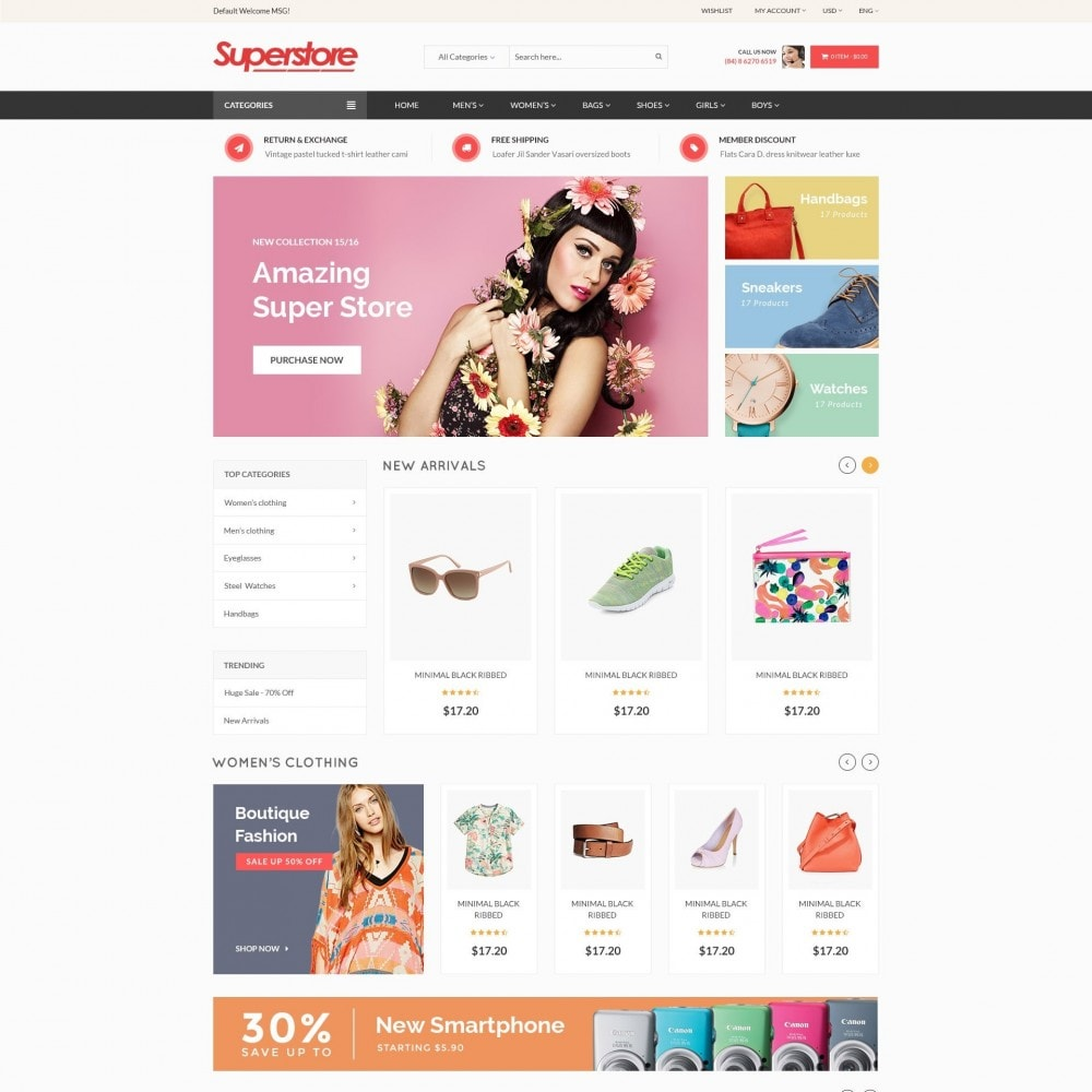SuperStore - Fashion, Furniture, Electronic Responsive