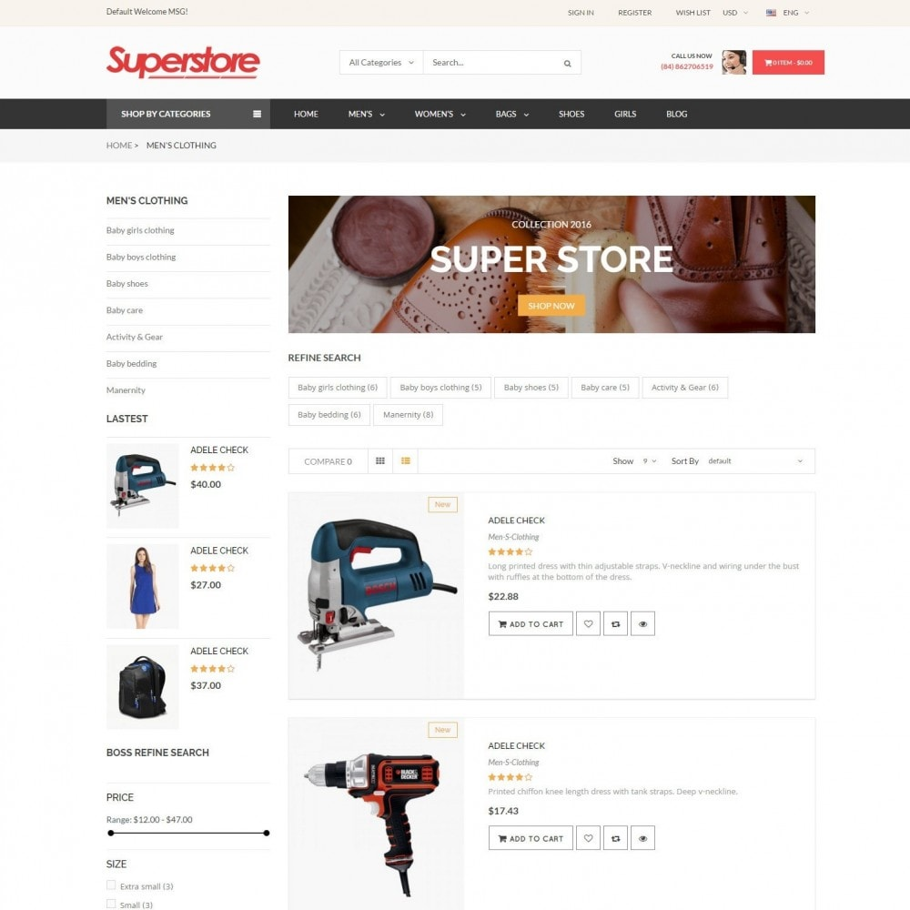 theme - Fashion & Shoes - SuperStore - Fashion, Furniture, Electronic Responsive - 4