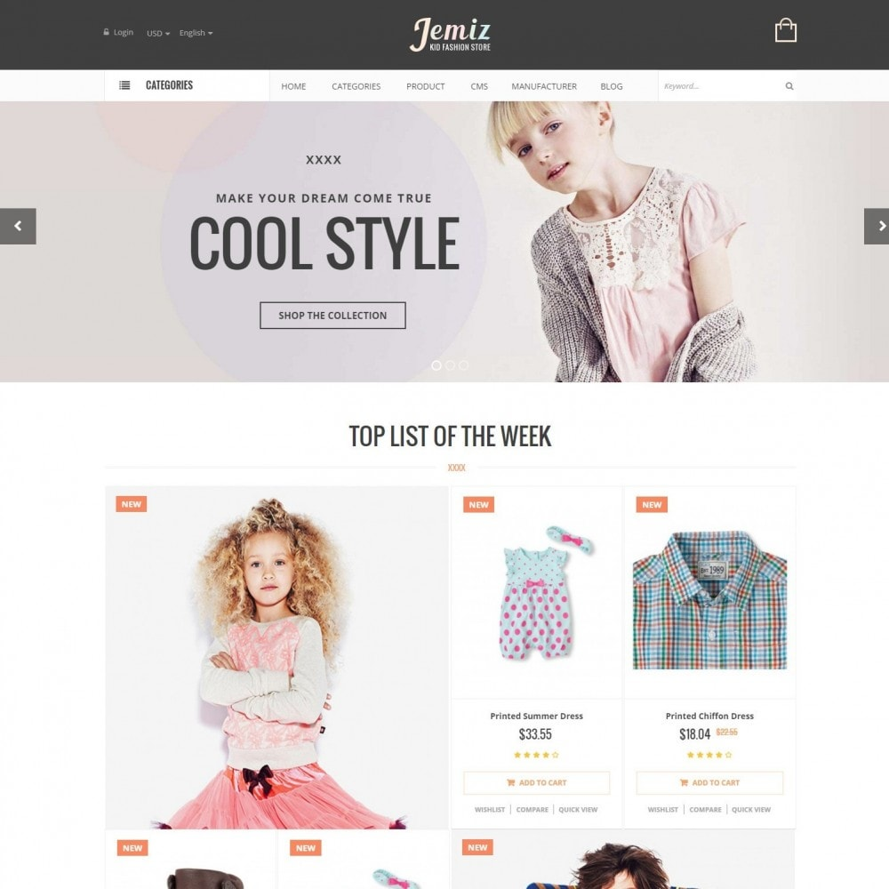 Jemiz - Childrens,Babies, Kids Fashion Responsive Store