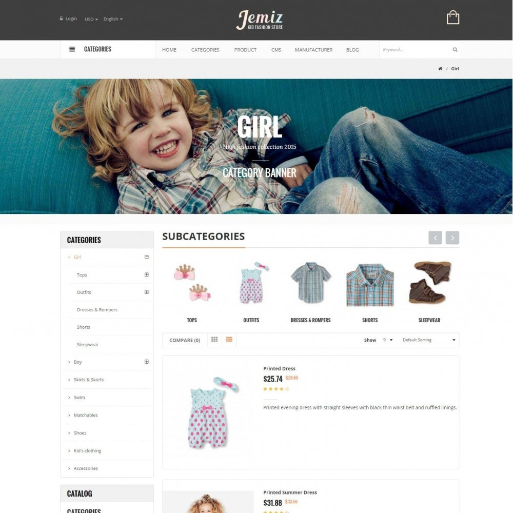 theme - Enfants & Jouets - Jemiz - Childrens,Babies, Kids Fashion Responsive Store - 4