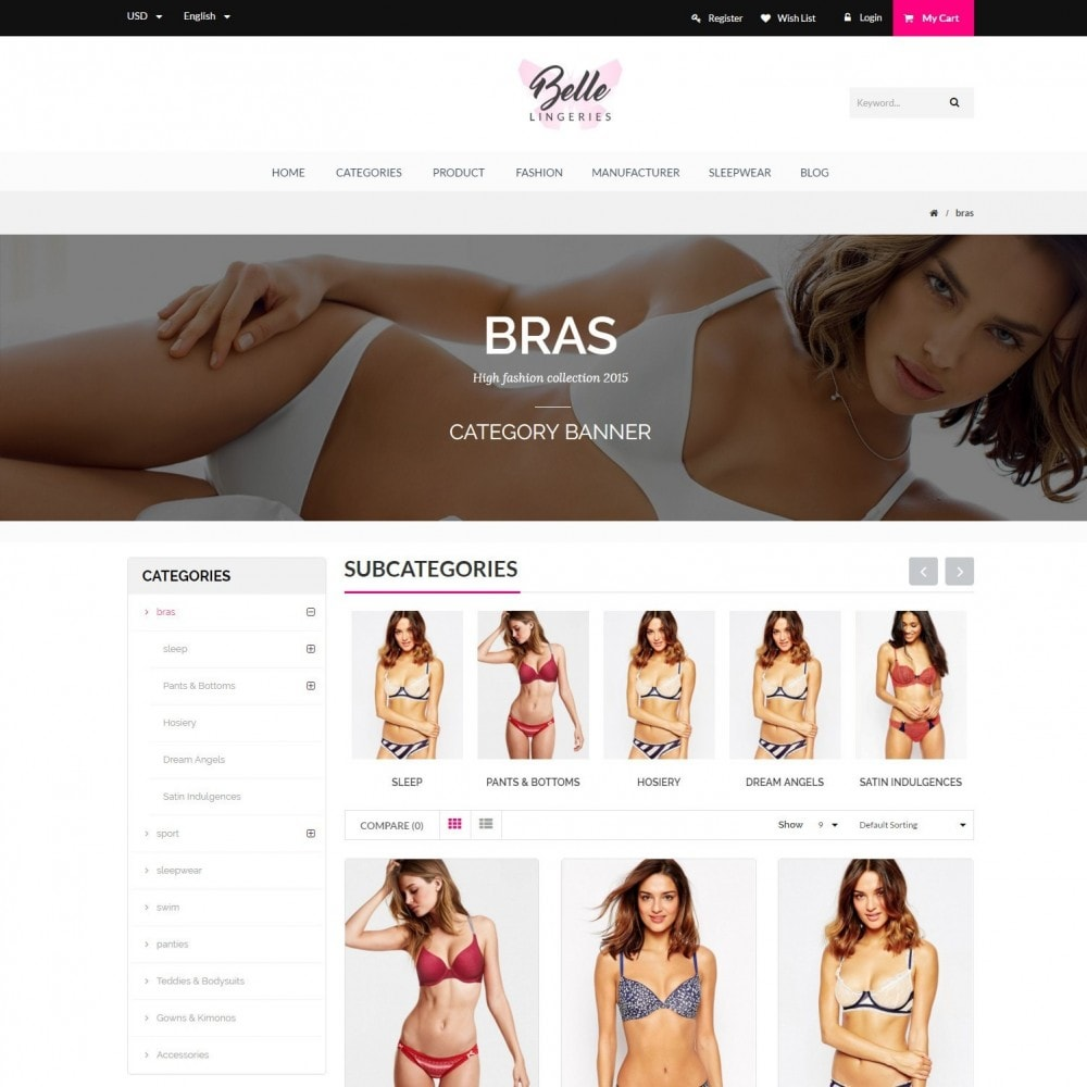 Belle - Underwear, Adult, Lingerie Fashion Store