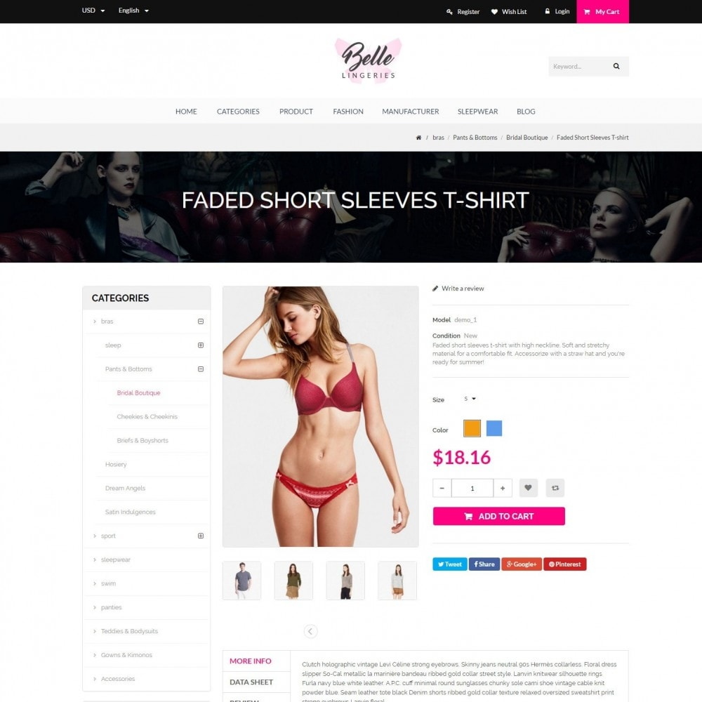 theme - Lingerie & Adultos - Belle - Underwear, Adult, Lingerie Fashion Store - 5