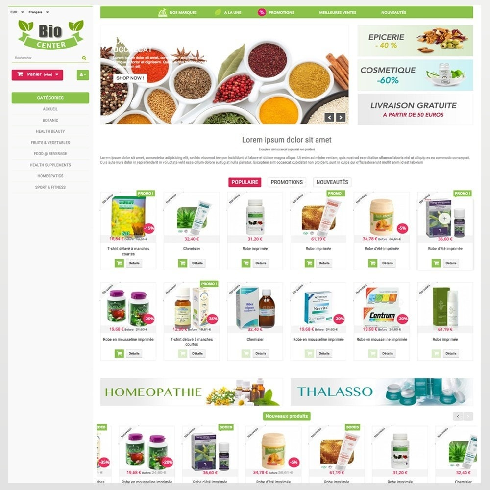 theme - Health & Beauty - BioCenter - 2
