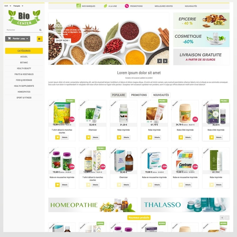 theme - Health & Beauty - BioCenter - 4
