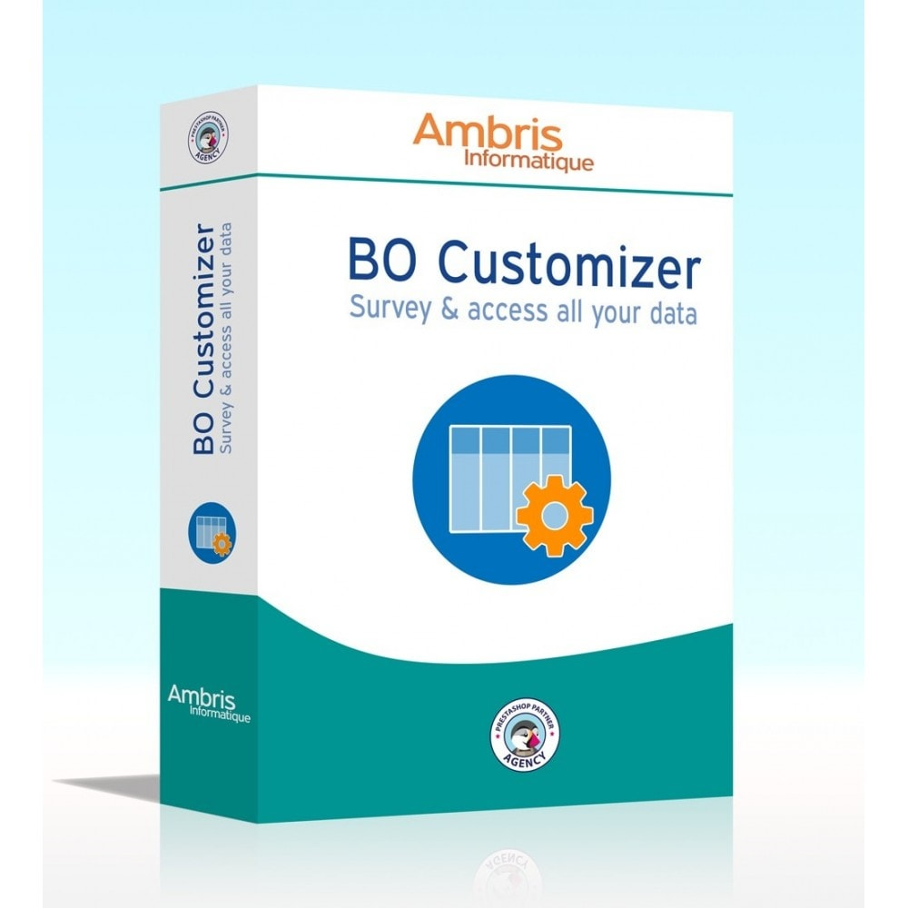 module - Administratieve tools - BO Customizer : survey and access all your data - 1