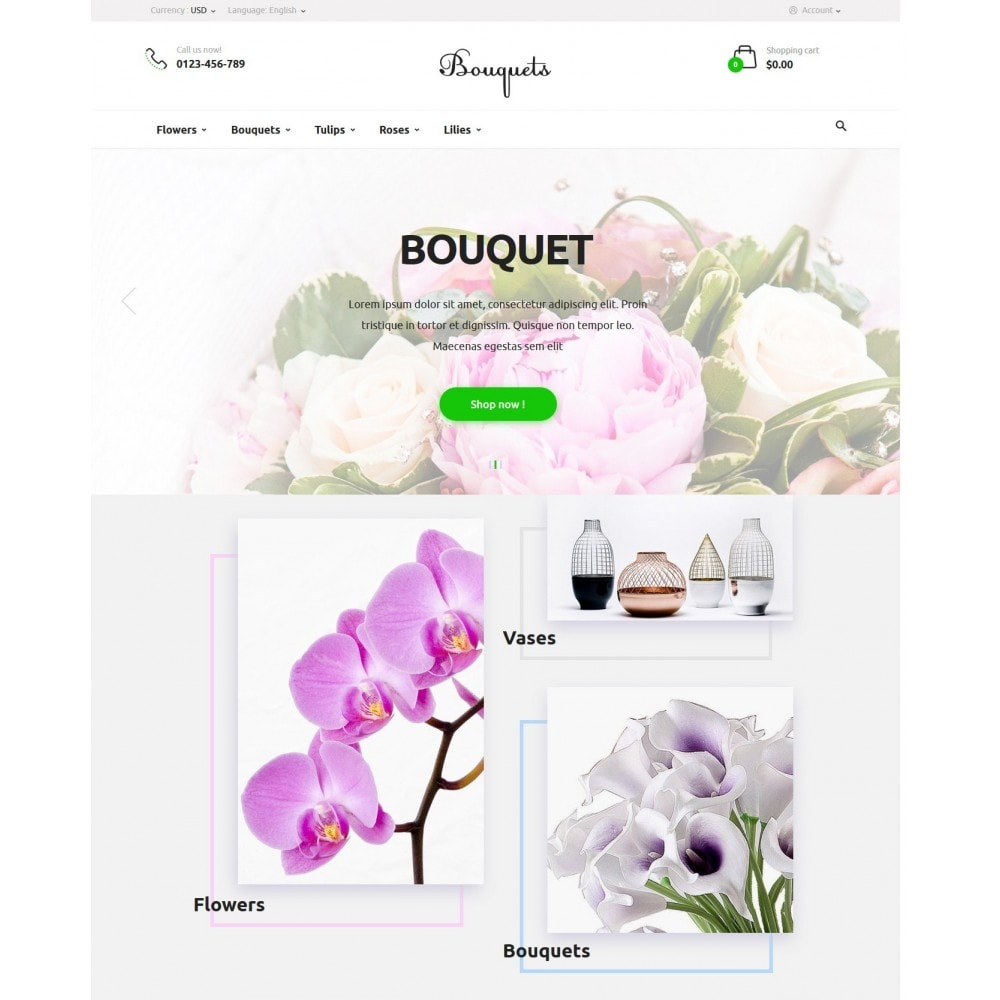 theme - Regalos, Flores y Celebraciones - Bouquets Flower Shop - 2