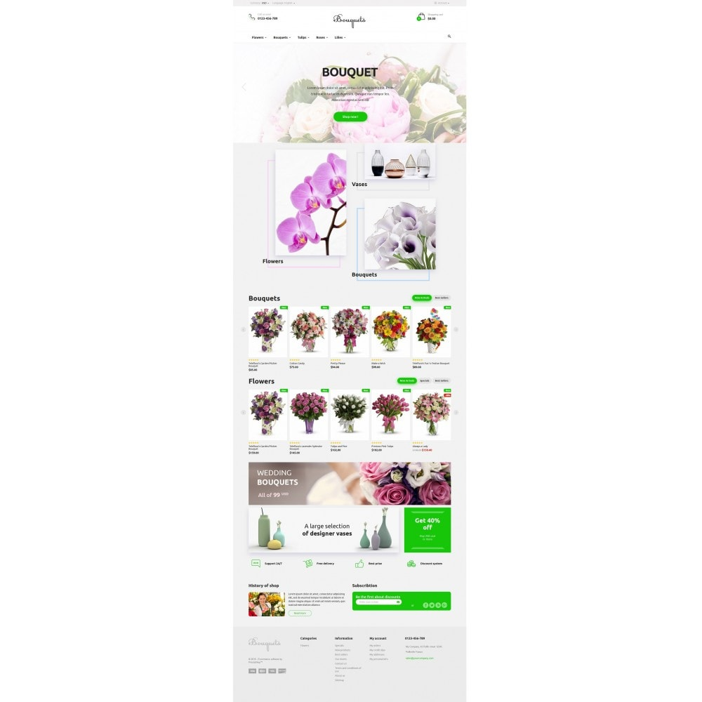 theme - Regali, Fiori & Feste - Bouquets Flower Shop - 4