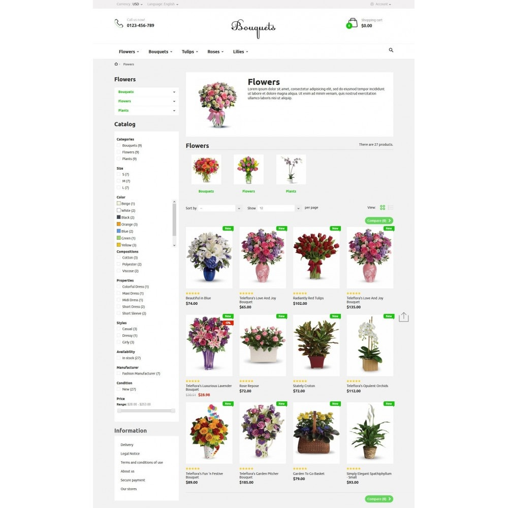 theme - Gifts, Flowers & Celebrations - Bouquets Flower Shop - 5