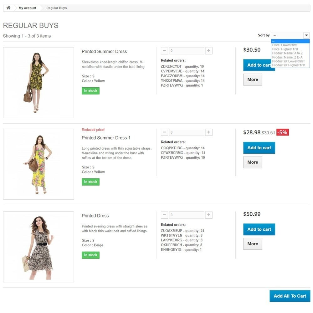 module - Registration & Ordering Process - Regular Buys + Re-Order + Repeat Purchases - 1