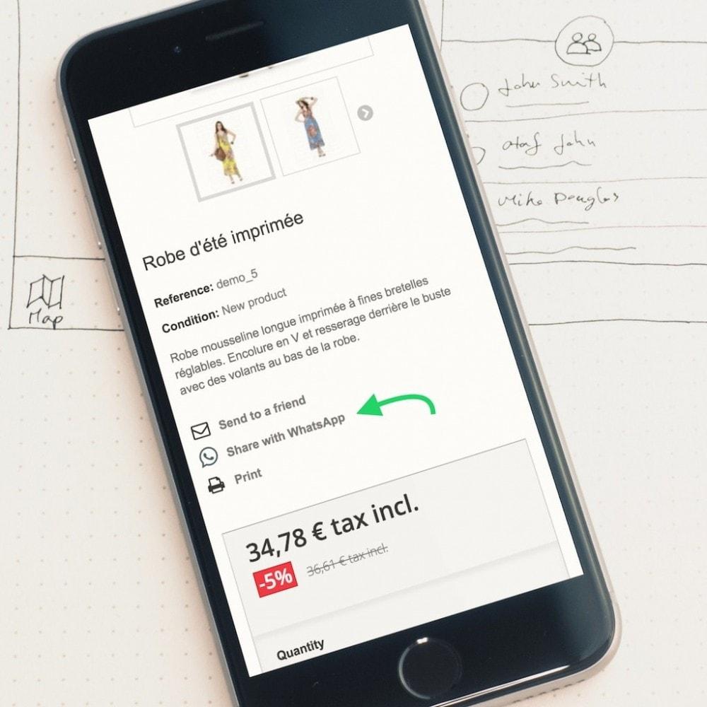 module - Boutons de Partage & Commentaires - Partage sur WhatsApp élégant et personnalisable - 2