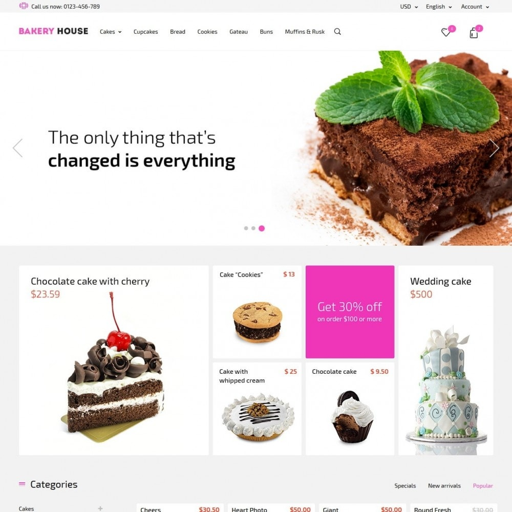 theme - Eten & Restaurant - Bakery House Sweet Shop - 2