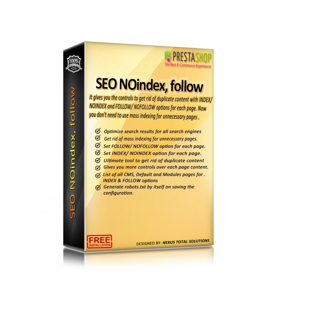 module - SEO (natural Search Engine Optimization) - SEO NOindex,follow (handles Duplicate content) - 2