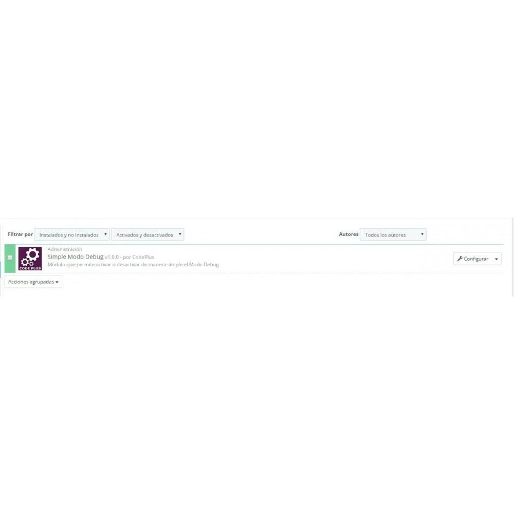 module - Herramientas Administrativas - Simple Modo Debug - 3