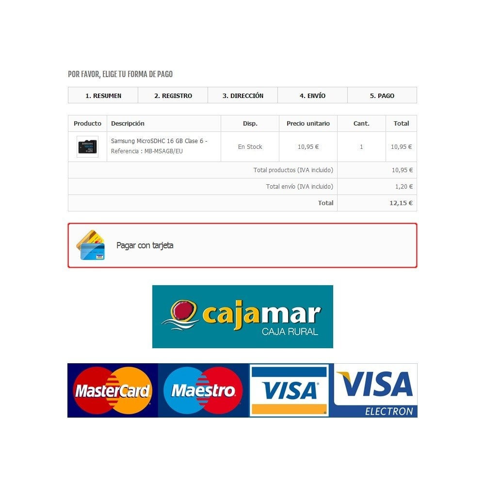 module - Paiement par Carte ou Wallet - Cajamar Virtual POS - 1