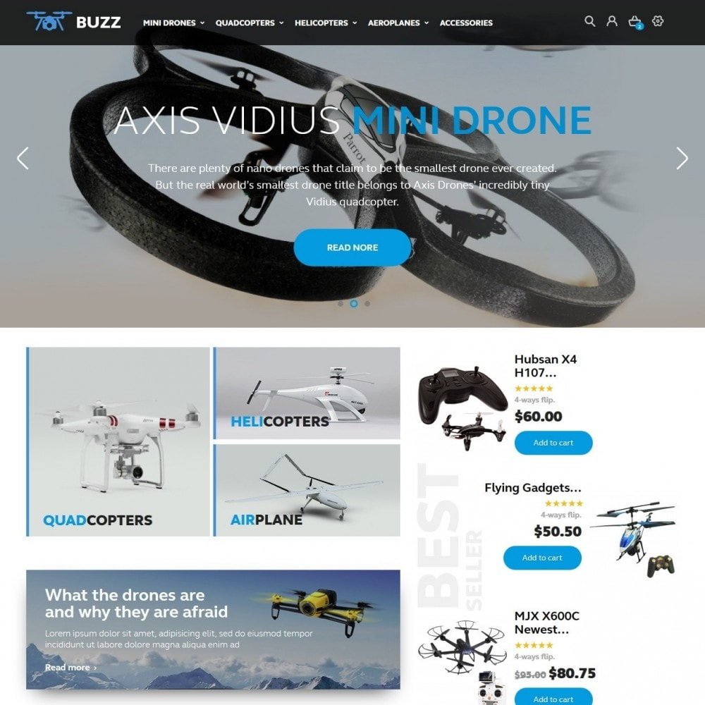 Buzz Quadrocopters Store