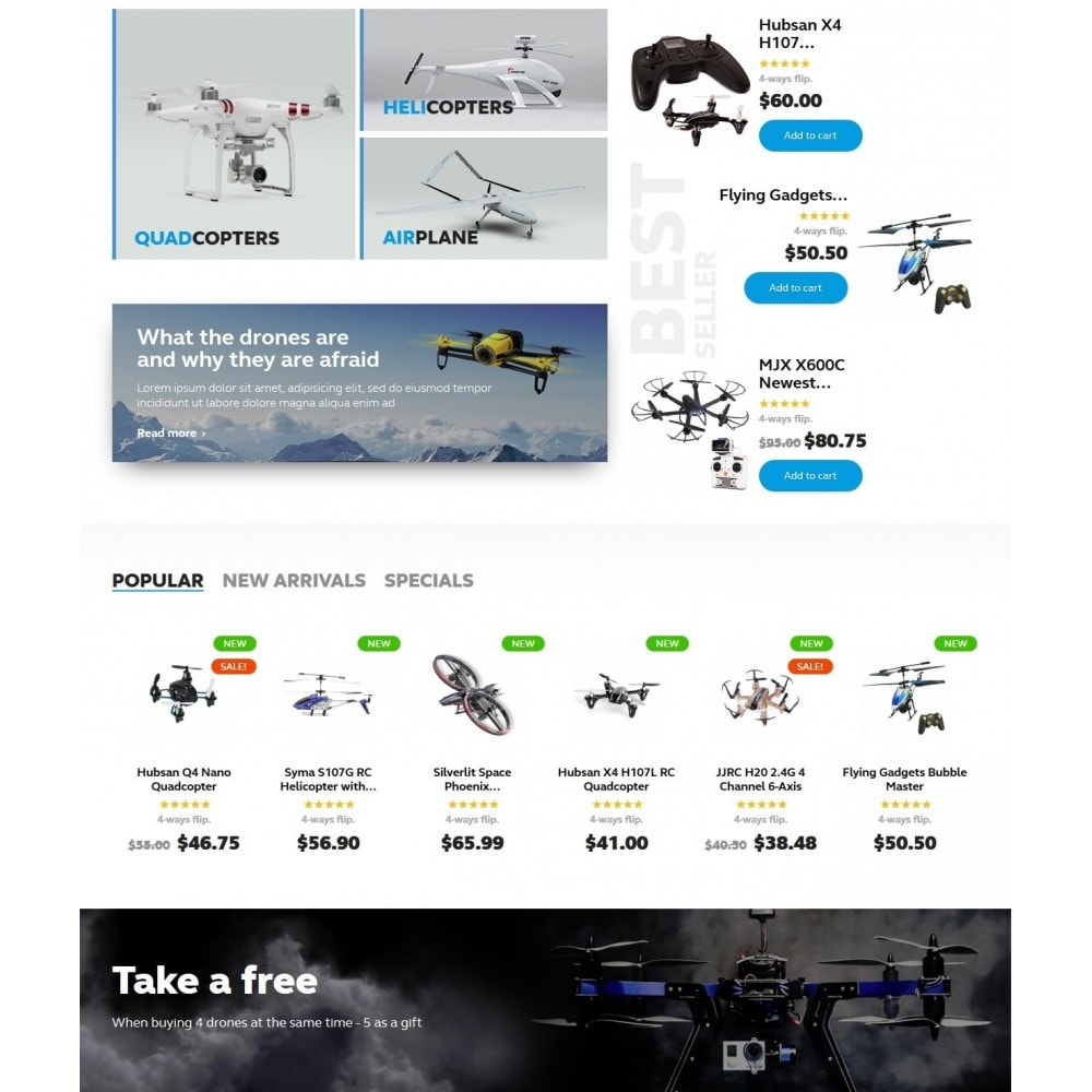 theme - Sports, Activities & Travel - Buzz Quadrocopters Store - 3
