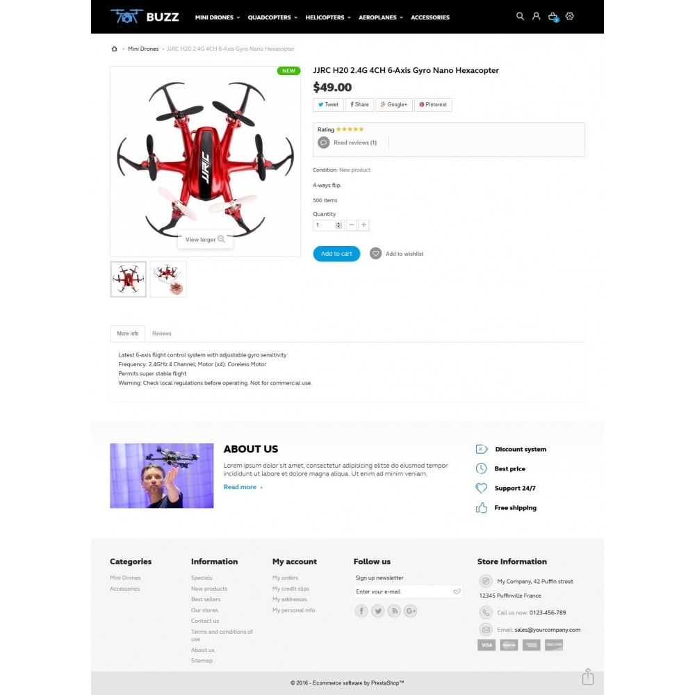 theme - Sports, Activities & Travel - Buzz Quadrocopters Store - 7