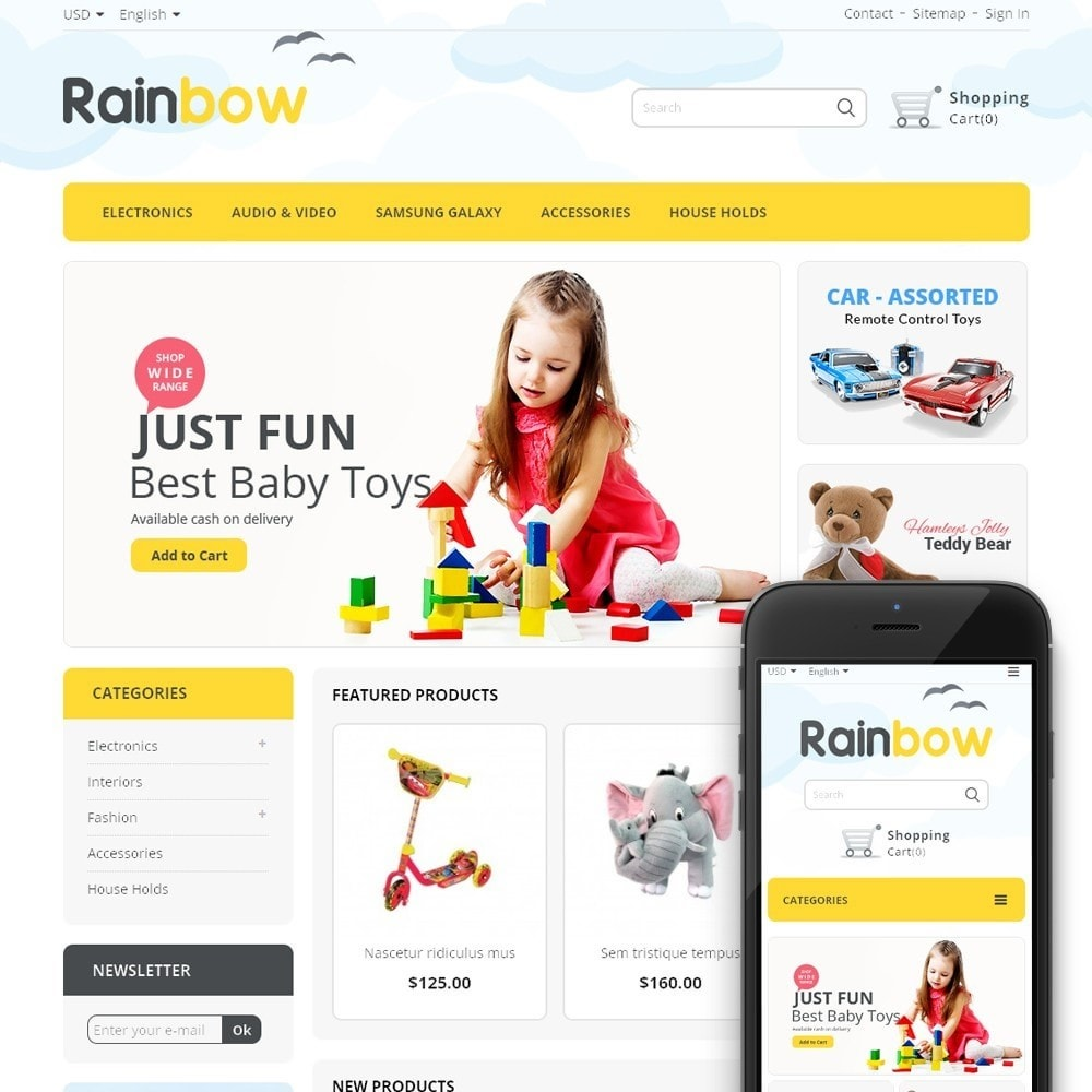 theme - Дети и Игрушки - Rainbow Store - 1