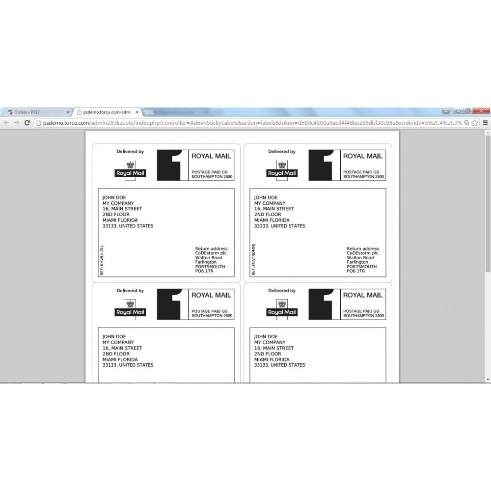 module - Préparation & Expédition - Sticky Labels - Professional Shipping Labels - 9