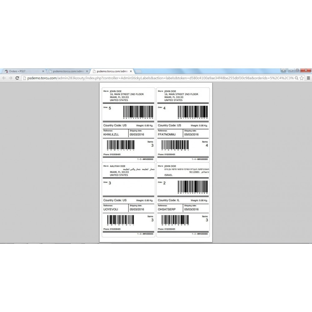 module - Kommissionierung & Versand - Sticky Labels - Professional Shipping Labels - 11