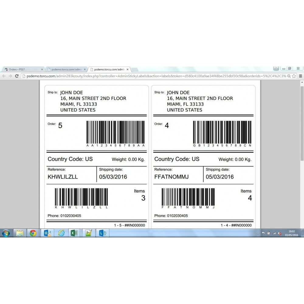 module - Préparation & Expédition - Sticky Labels - Professional Shipping Labels - 12