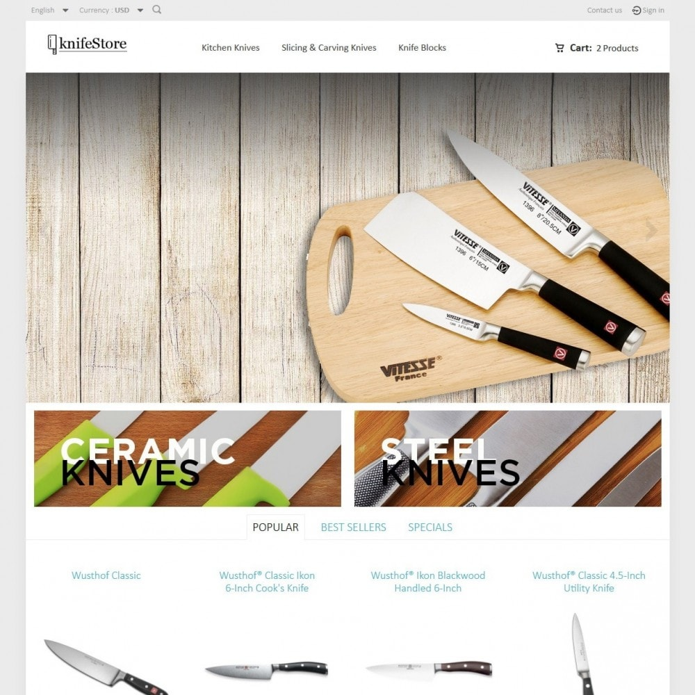 theme - Home & Garden - Knife Store - 2