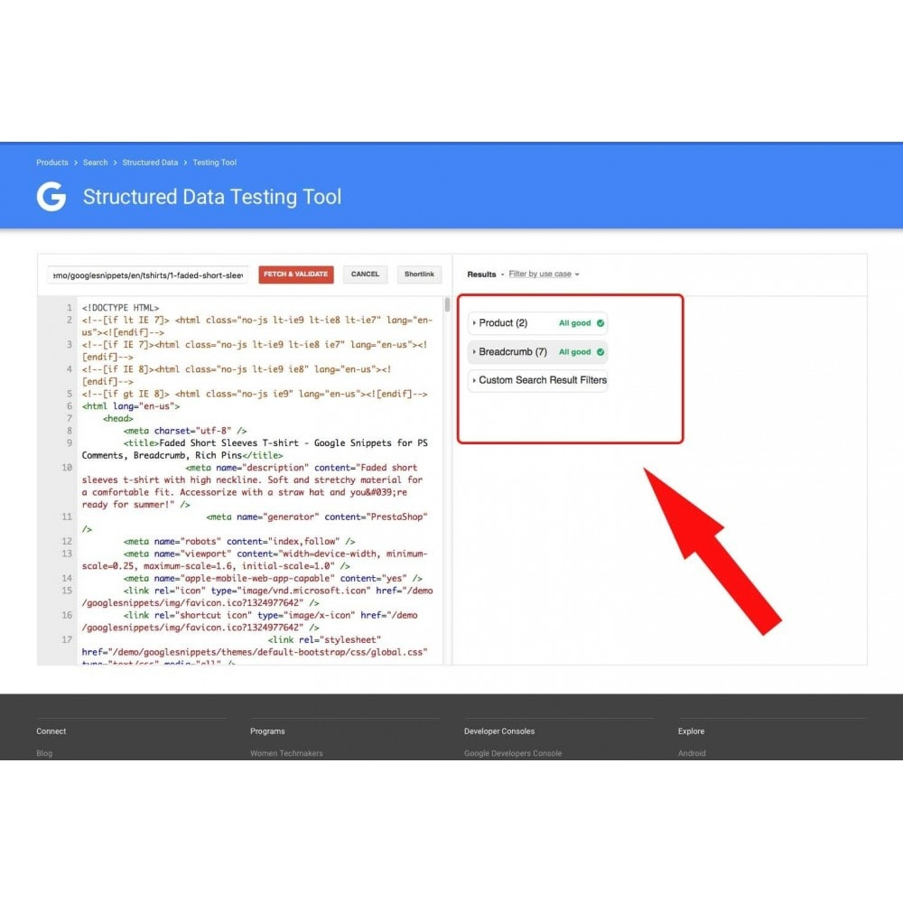 module - SEO (Referenciamento natural) - Google Snippets for PS Comments, Breadcrumb, Rich Pins - 5