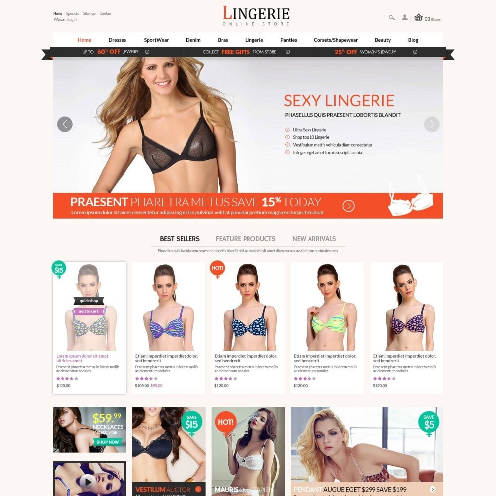 theme - Lingerie & Adult - Sleepwear & Sexy Lingeries Adult Store - 2