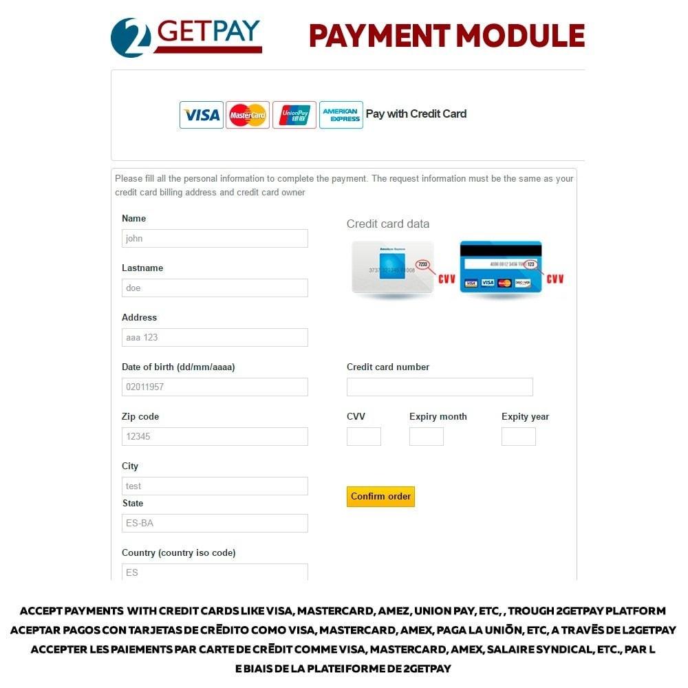 module - Paiement par Carte ou Wallet - 2getpay payment gateway & credit card - 1