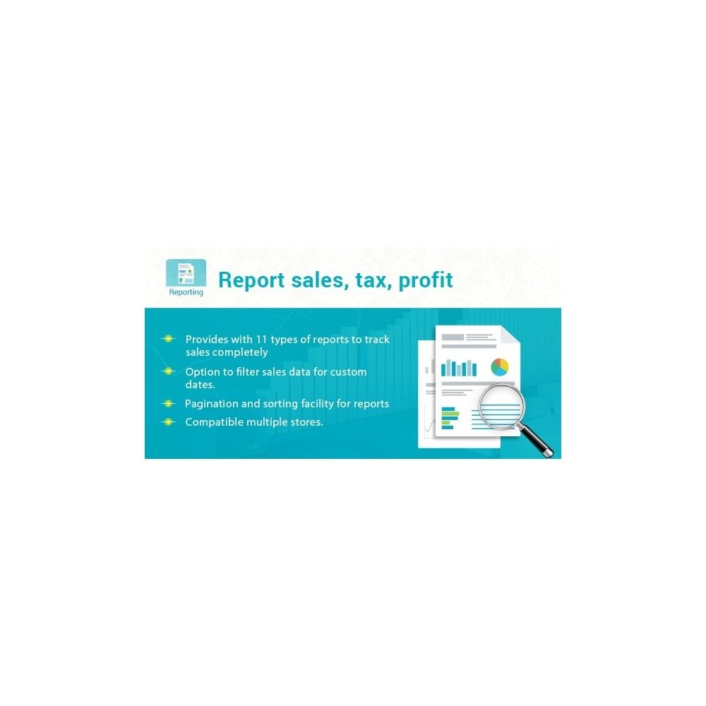 module - Analytics & Statistiche - Best for Report sales, tax, profit, products, category - 1
