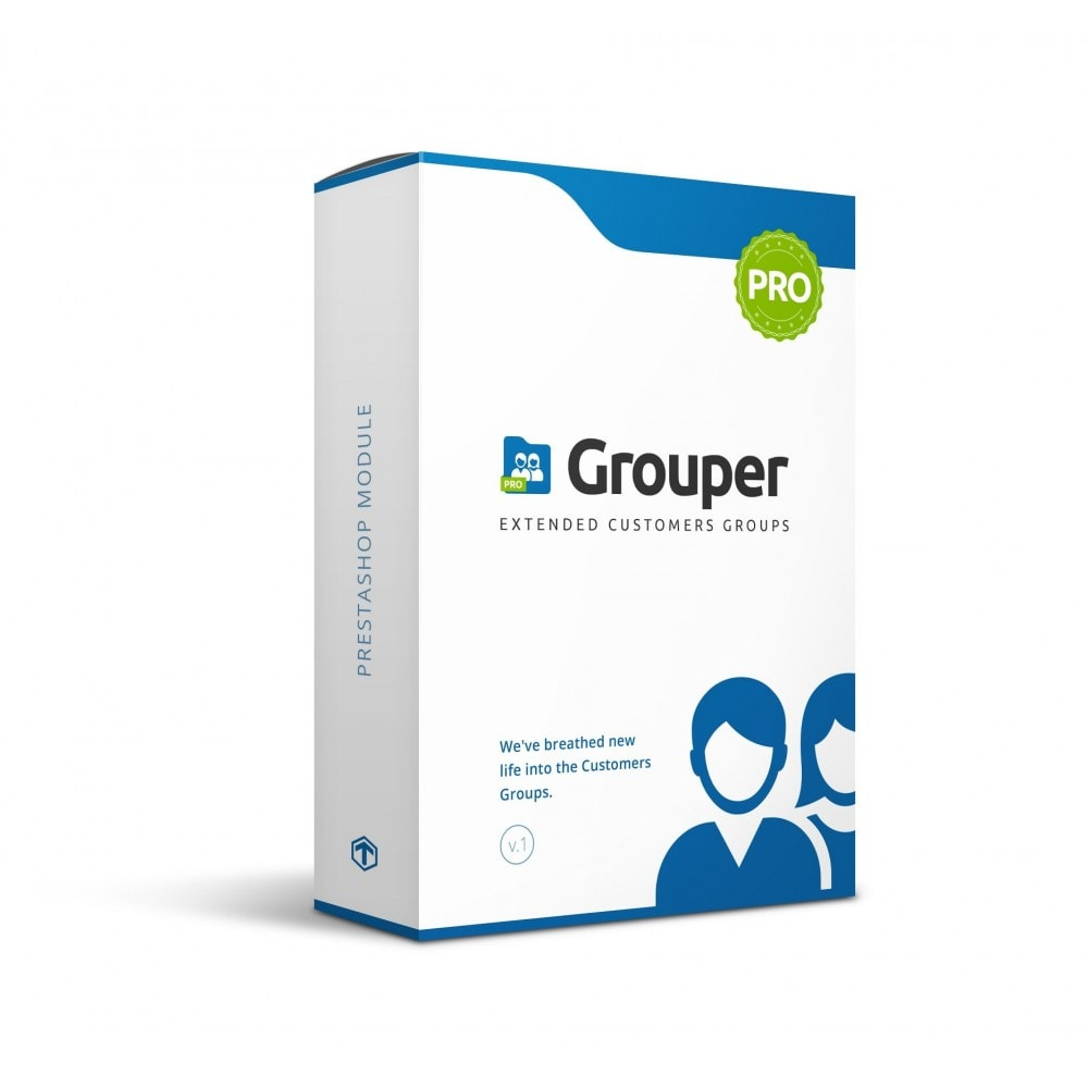 module - Gestión de clientes - Grouper PRO - Extended Customers Groups - 1