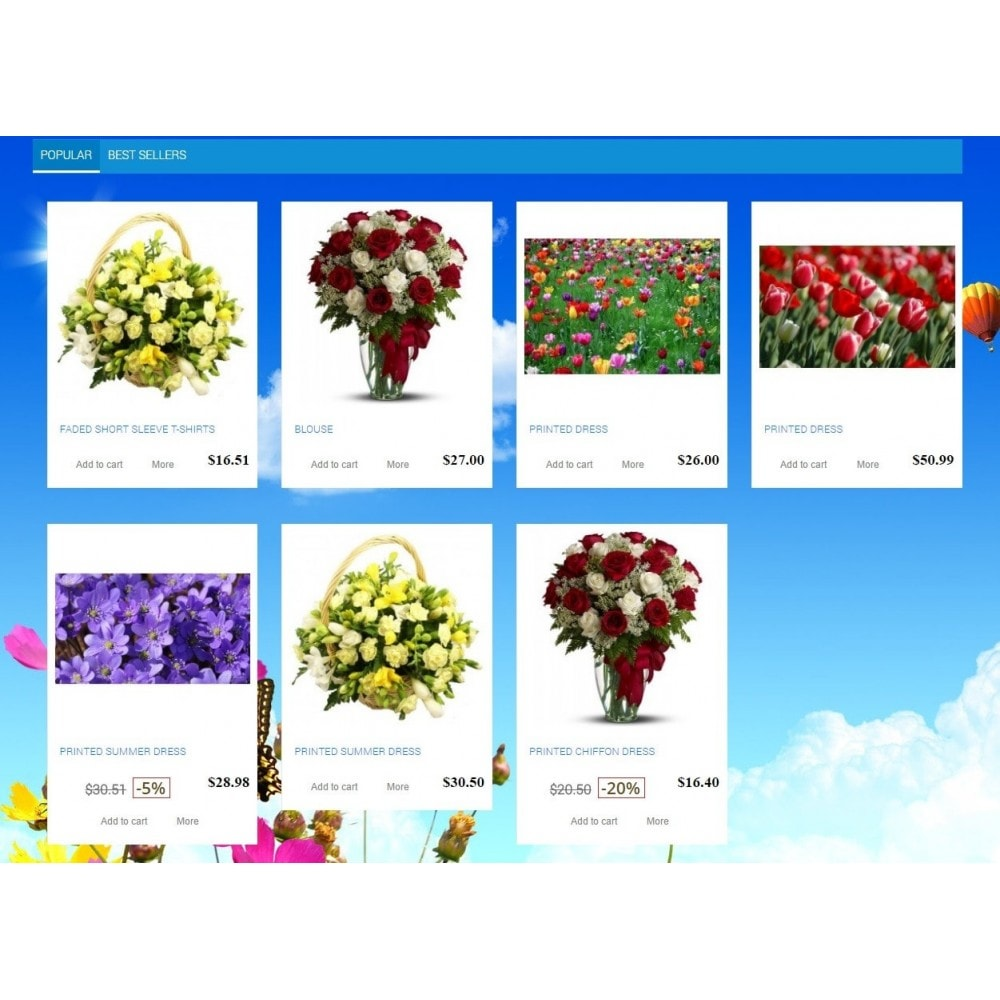 theme - Regalos, Flores y Celebraciones - Modern Site - Natural, Flowers - 2
