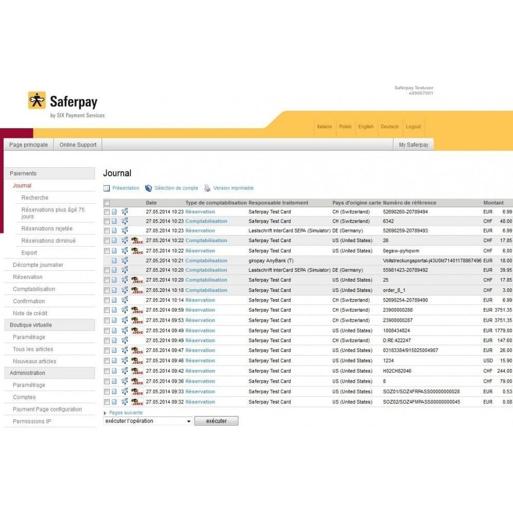 module - Paiement par Carte ou Wallet - Saferpay / Six Payment Services - 10